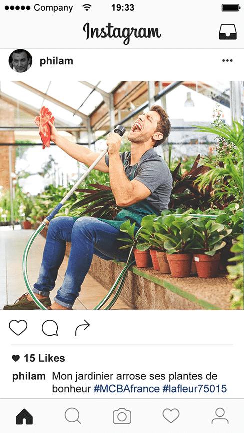 Mon jardinier arrose ses plantes de bonheur - Concours #MCBAfrance