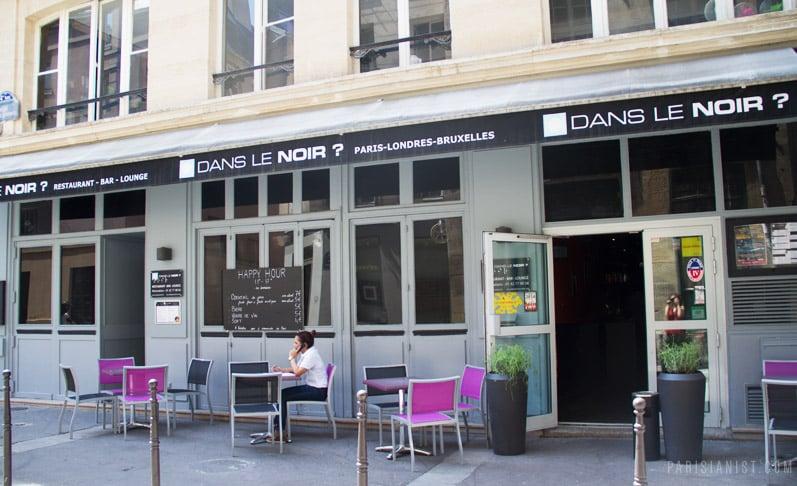 DANS LE NOIR? | 75004 Restaurant